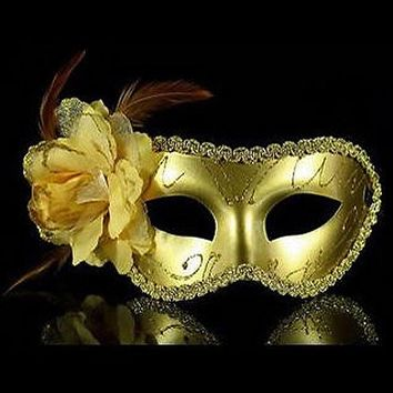 UK Venetian Feather Fancy Dress Masquerade Costume Carnival Party Ball Mask