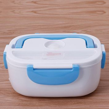 3 color Electric 220V Portable Heated Lunch Food-grade Food Container Set Food Warmer Bento With For kids School Box #C60EY#