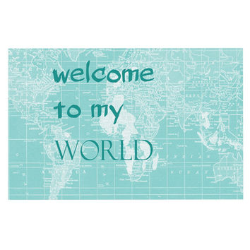 "Catherine Holcombe ""Welcome to my World Quote"" Decorative Door Mat"