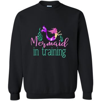 Mermaid In Training Outfit for Girls Kids Women T Shirt Printed Crewneck Pullover Sweatshirt