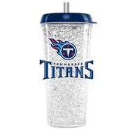 Duckhouse Crystal Tumbler With Straw - Tennessee Titans