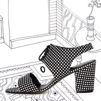 cleohcp - Nathalie Du Pasquier Print Pia Canvas Cleo Cut Out Heel