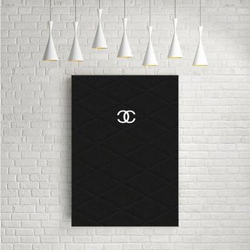 CHANEL LOGO SIMPLE ARTWORK POSTERS
