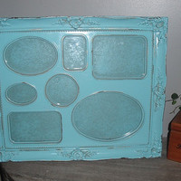 Shabby Cottage Aqua blue Frame ... 7 frames in 1 ... ornate Chic Paris Apartment