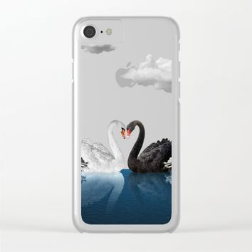 Cisnes Love Clear iPhone Case by lostanaw