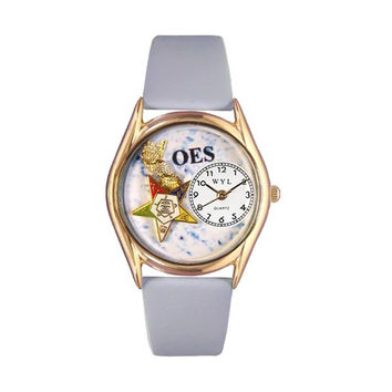 Order of the Eastern Star Baby Blue Leather And Goldtone Watch