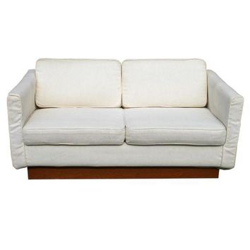 Pre-owned Milo Baughman Style Love Seat