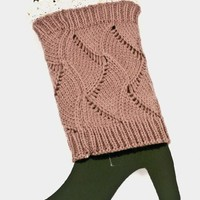 Lace Accent Knitted Leg Warmer/Boot Socks (3 Colors Available)