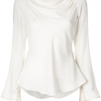 Marni Draped Peplum Blouse - Farfetch