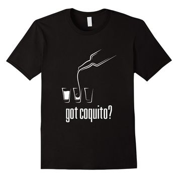 Got Coquito? Puerto Rican Holiday T-shirt - Male Medium - Black