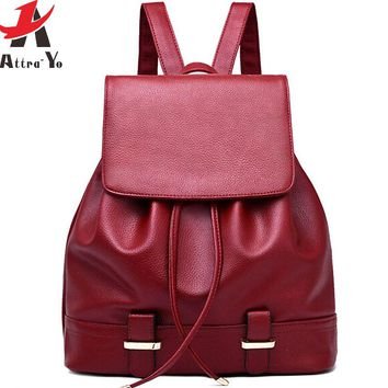 Women Backpack Brands Women PU Leather Backpacks Travel Bags School Bags High Quality Bag Day Packs