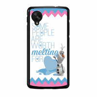 Olaf Quote Melting The Disney Frozen Pink Blue Chevron Nexus 5 Case