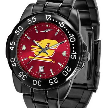 Central Michigan Chippewas Mens Watch Fantom Gunmetal Finish Color Dial