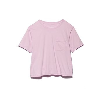 Boxy Crop Tee - Lilac Purple
