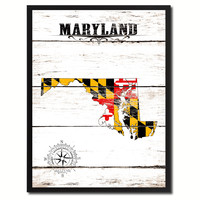 Maryland State Flag Gifts Home Decor Wall Art Canvas Print Picture Frames