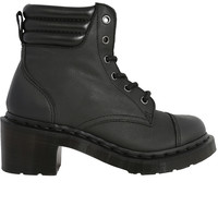 Alexandra Mirage Leather Heeled Boot by Dr. Martens