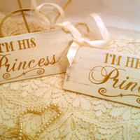 Wedding Signs with Crystals Gold Wedding Decorations Set of 2 Fairytale Wedding Signs, Cinderella Wedding, Royal Wedding Princess Wedding