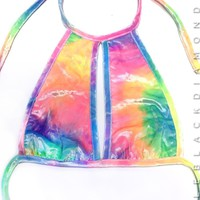 Bubble Tie Dye Halter Top