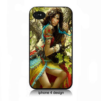 Unique Gypsy iphone 4  cell phone acessory case, iphone cover