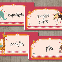 Printable Place Cards: Zoo [Instant Download]