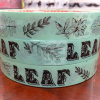 Light green Deco Tape Stickers - Leaf DT548 10meters