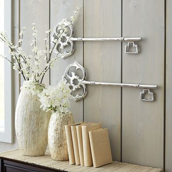 aluminum key wall decor from pier 1 imports decor i like. Black Bedroom Furniture Sets. Home Design Ideas
