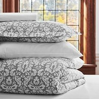 Decorator Damask Value Comforter Set, Light Grey