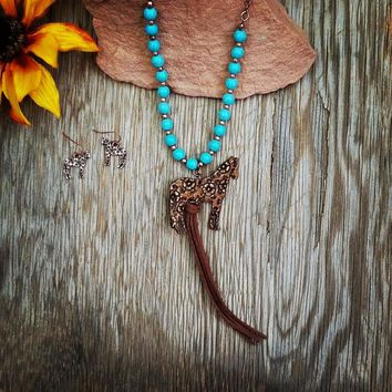 Leather Horse Tassel Necklace