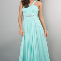 Long Chiffon Prom Gown by Bee Darlin