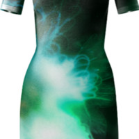 Green Alien Jellyfish from Outer Space Bodycon Dress created by stine1 | Print All Over Me
