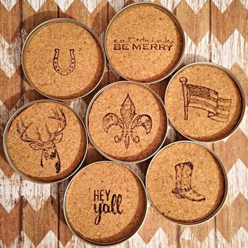 Mason Jar Lid Coasters (set of 4)