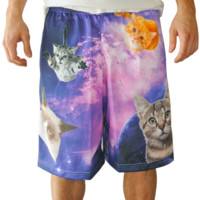 Cats in Space Lax Shorts | Lacrosse Unlimited