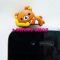 Japan ~ Tokyo Cute Kawaii Bear iphone/ipad/ipod/HTC Dust Plug Hole Charm