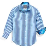 Boy's Thomas Dean Stripe Oxford Dress Shirt