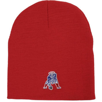 New England Patriots '47 Brand Basic Throwback Logo Cuffless Beanie – Red