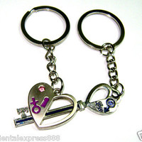You Are the Key to my Heart Key chain Key Ring Keyfob for LOVER Gift U.S Seller