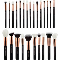 Makeup Brush Set in black and rose gold - 25 pc Produced By SHOWPO
