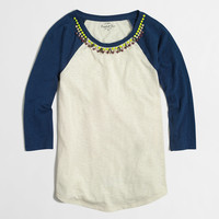 FACTORY JEWELED BASEBALL TEE