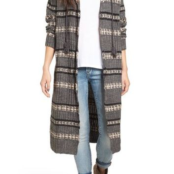 Rip Curl Long Road Stripe Knit Cardigan | Nordstrom