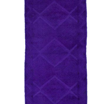 2x9 Overdyed Vintage Tribal Purple Runner 2550
