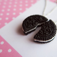 Oreo friendship cookie necklaces