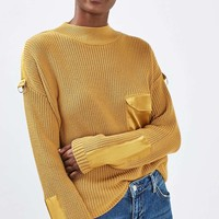 Boxy Satin D-Ring Jumper | Topshop