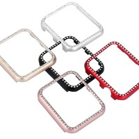 Crystal Bling Shatter-Resistant Protective Cover for Apple iWatch (42/38MM)