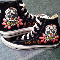 Sugar Skull Converse by DeannaNicoles on Etsy