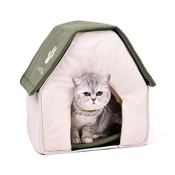 Drop shipping Foldable Pet Cat Cave House Cat Kitten Bed Cama Para Cachorro Soft Dog House Cat Dogs Home Shape Red Green