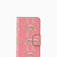 camel party folio iphone 7/8 case | Kate Spade New York