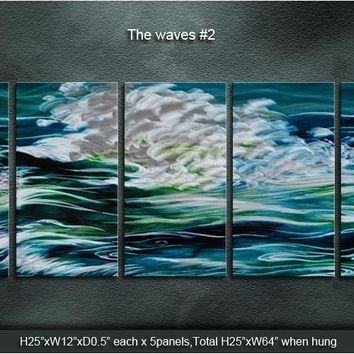 Original  Classic Metal Art Abstract  simplicity Wall  Painting The waves /Spray  Sculpture Indoor Outdoor Decor