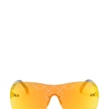 Grid Girl Rectangular Sunglasses GoJane.com