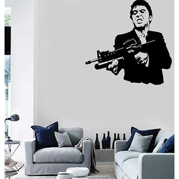 Wall Stickers Vinyl Decal Scarface Film Gangster Man Weapons Unique Gift ig1678