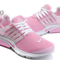 NIKE trend of running shoes casual shoes Pink white